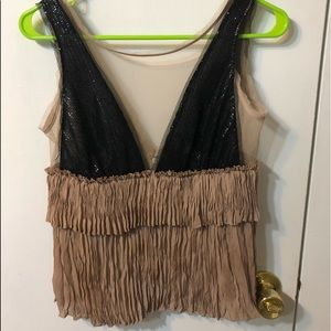 Black and Tan Sparkled Hanging Tank